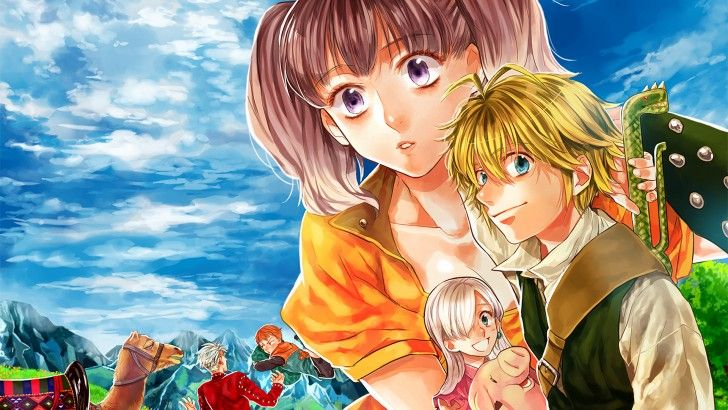 Meliodas Hawk Elizabeth Diane Ban King Anime Nanatsu No