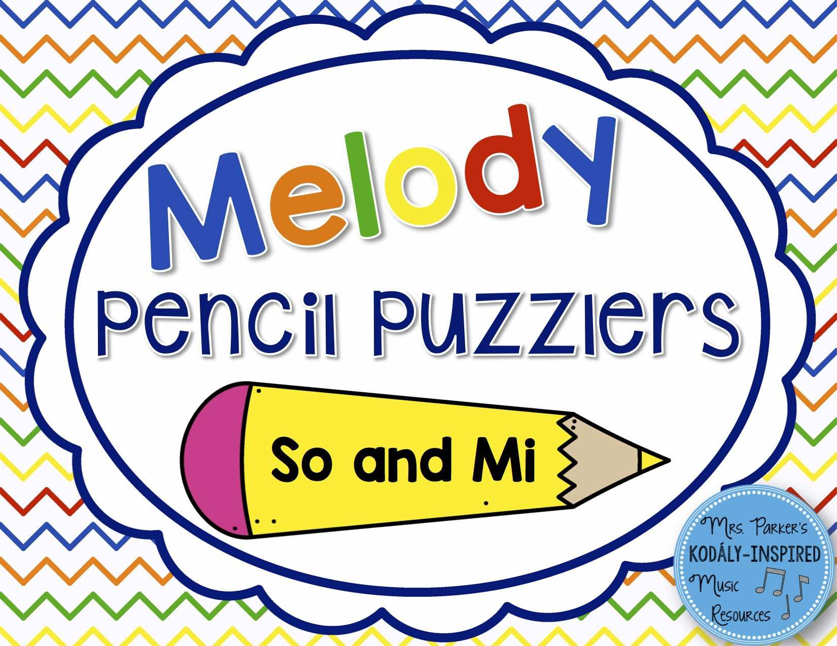 Melody Pencil Puzzlers So And Mi
