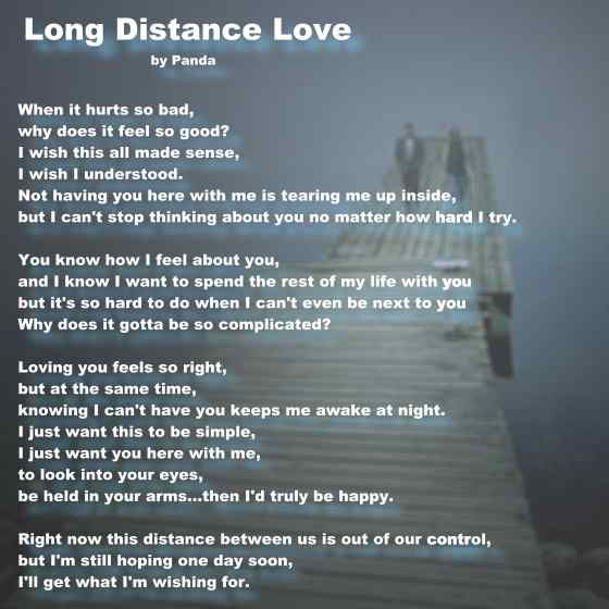 Long Distance I Love You Poems