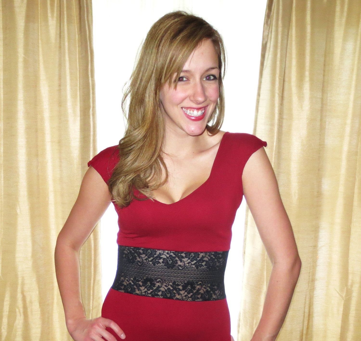 Sweet red dress for a vday date stunning red dress with black