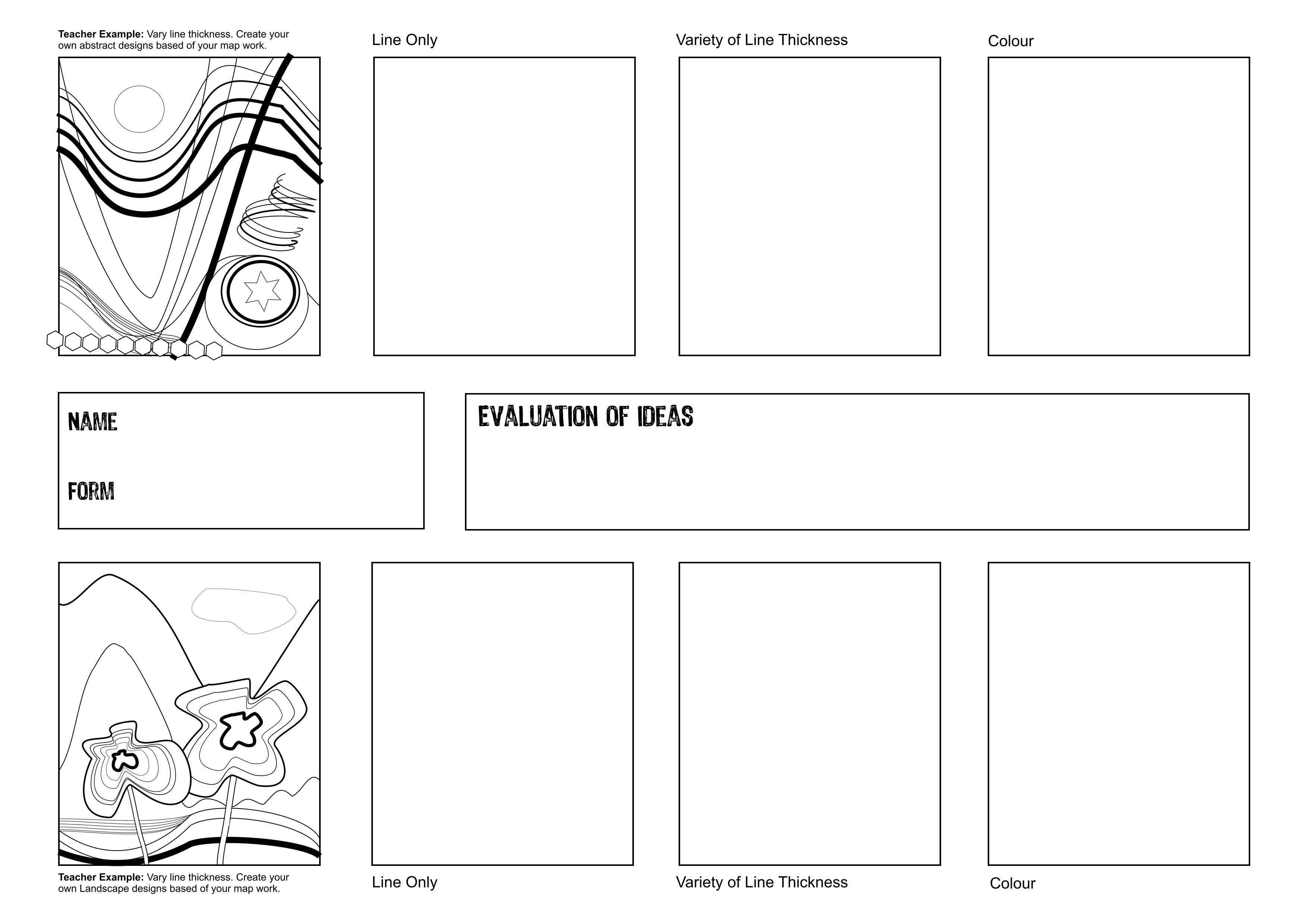 Ideas Sheet Ks 3