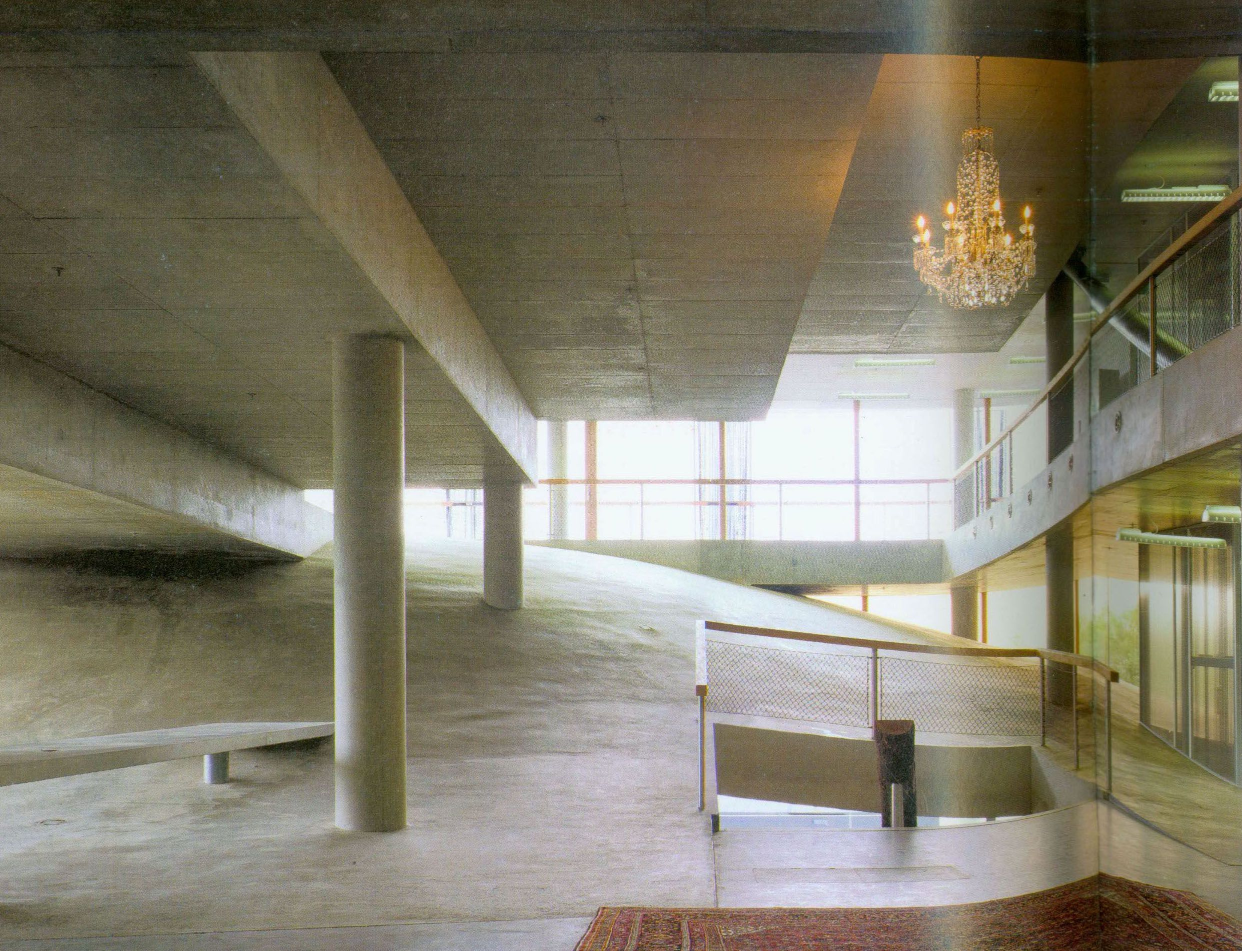 Rem koolhaas villa dall ava paris france 1991 atlas of - Interior Topography Materiality Of Concrete As A Semi Viscous Solid