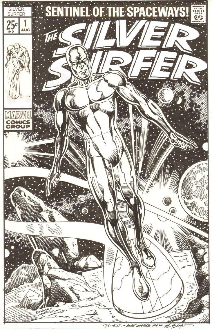 Silver Surfer by Rich Buckler and Bob Layton, in EddWalker's Silver Surfer Comic Art Gallery Room