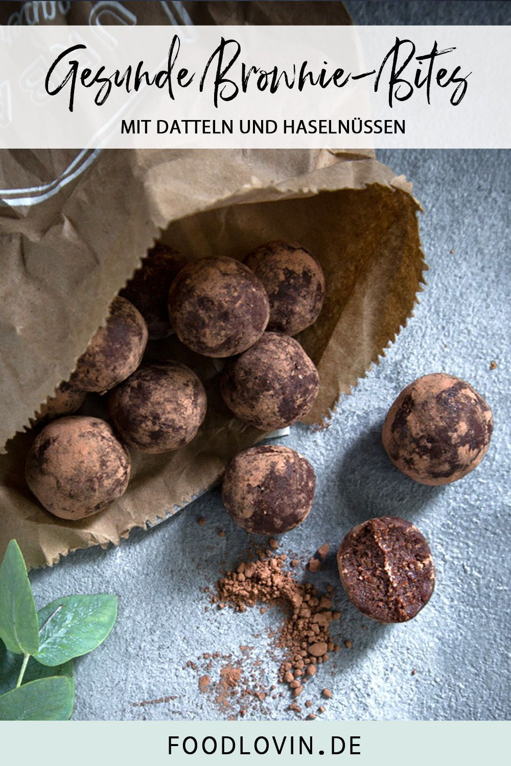 Healthy Brownie Bites -  Super chocolatey brownie energy balls made from healthy ingredients. With