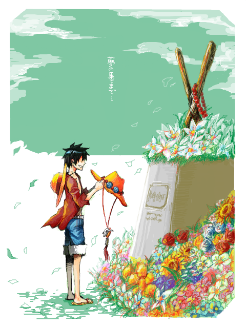 Luffy at Ace's grave, I hope that there's gonna be a chapter/episode of this moment.