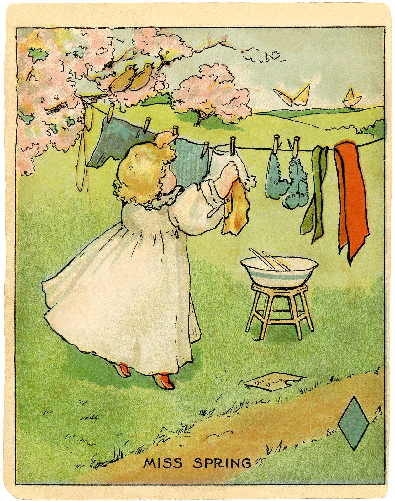 Senhorita Primavera Ilustração