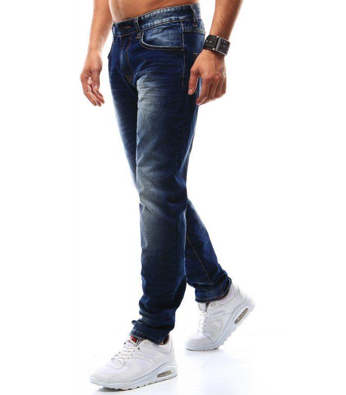 Tmavomodré riflové nohavice pánske  2ecfca4245