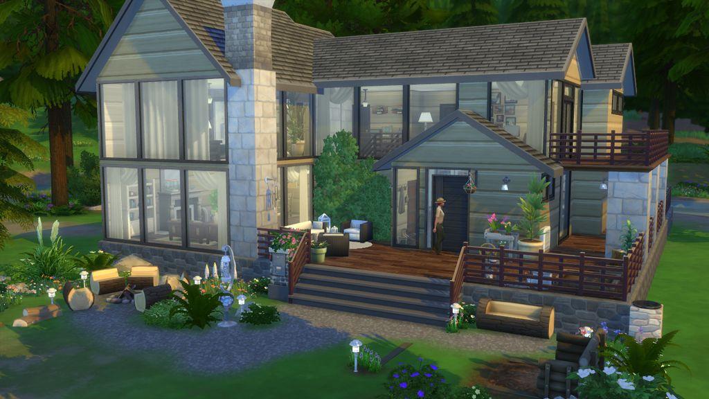 Oasis De Fraicheur Maison Sims Sims 4 Maison Maison