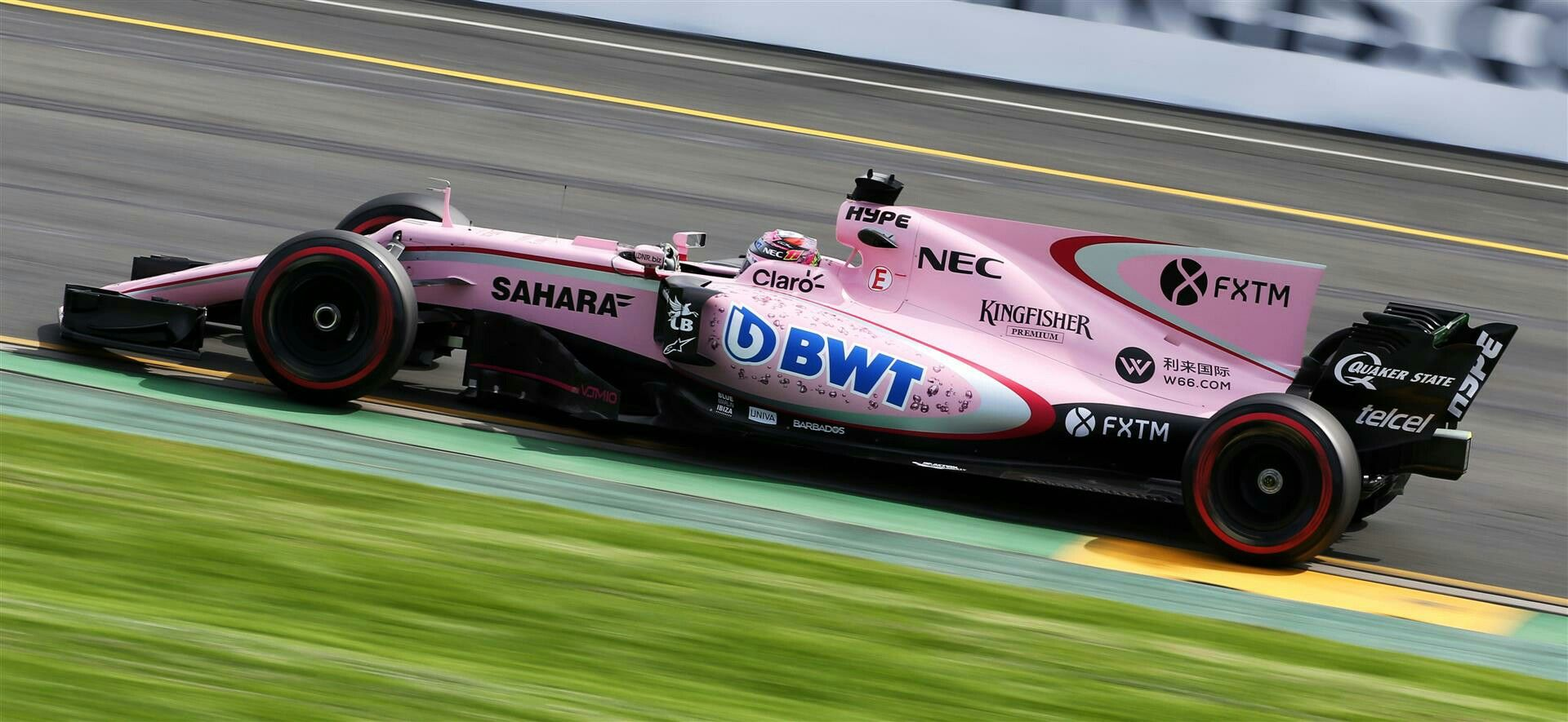 F 1 Season 2017 The First Pink Car Of The History Force India Pink Car Racing Car
