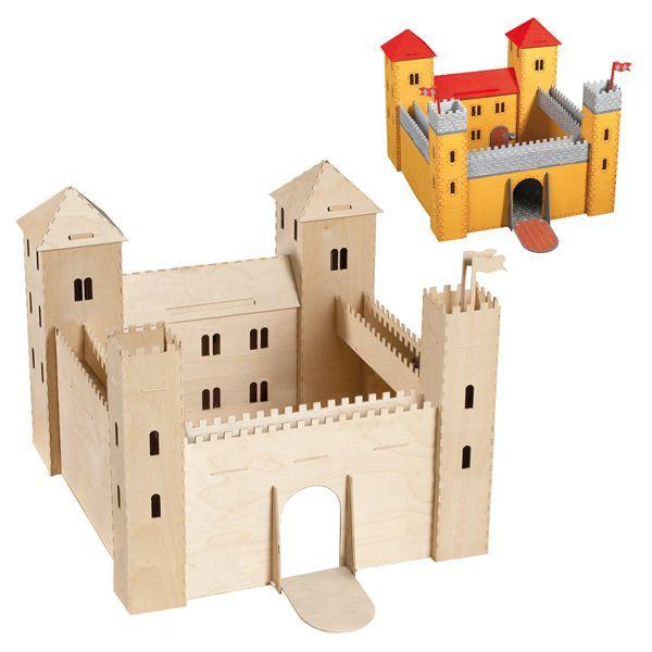 поделка замок из картона своими руками схемы шаблоны