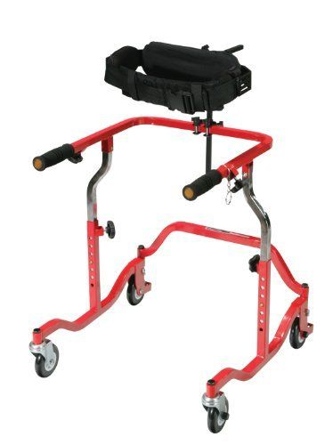 Trunk Support for Pediatric Safety Rollers by Drive Medical. $189.20. Color: Black. User Size: Small. Allergy: Latex Free. For use with all pediatric Safety Rollers and Nimbos. The trunk support wraps around the user and stabilizes the trunk. Used for patients with poor trunk control, ataxia, poor balance, spasticity or weakness. Height and depth adjustable trunk support includes padded back and lateral pads. The lateral pads are width adjustable. Adjustable straps with f...