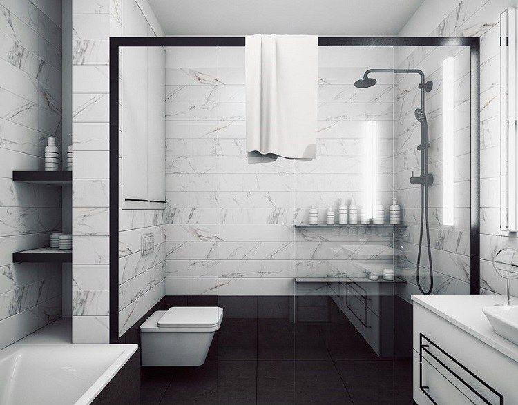 Salle de bain en marbre moderne – idées insolites qui ...