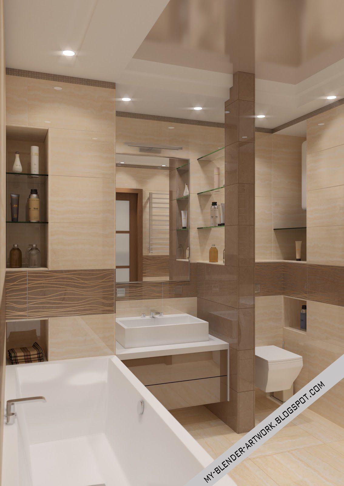 Bathroom Blender 3D interior render http://my-blender-artwork.blogspot.com