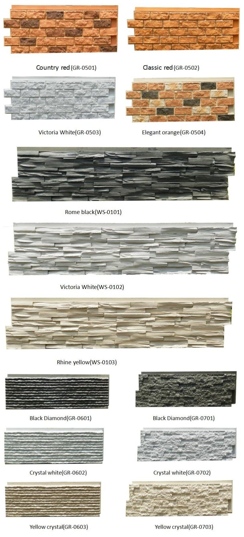 Pu Faux Stone Type And Tile Stone Cheapest Exterior Wall Cladding