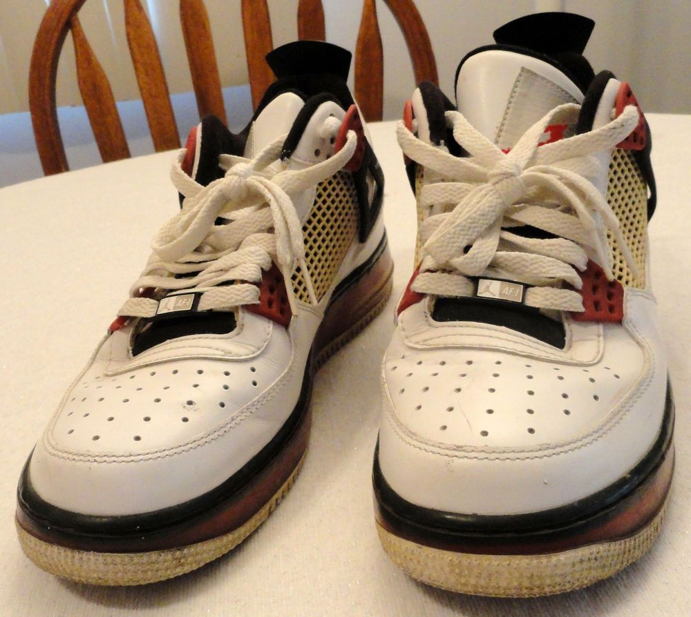 premium selection f6cb2 a85c7 Nike Air Jordan The Best of Both Worlds Tennis Athletic Shoes White Red Blk  sz 9  NikeAirJordan  AthleticSneakers