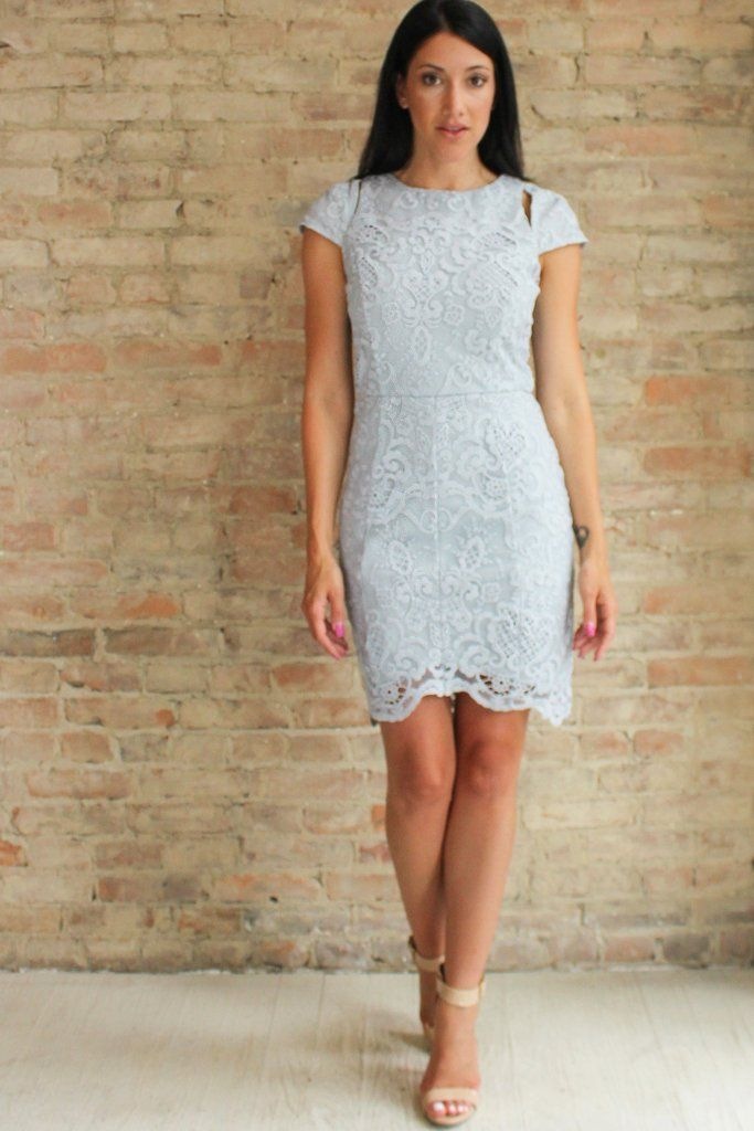 Maura Lace Dress - Grey #affordable-cocktail-dresses #bodycon #cap ...