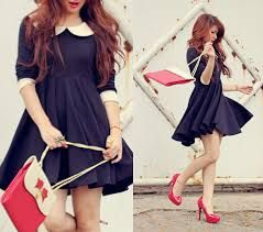 Resultado de imagem para moda coreana feminina vestidos