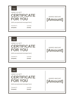 Gift Certificates Projects To Try Pinterest Gift Certificates
