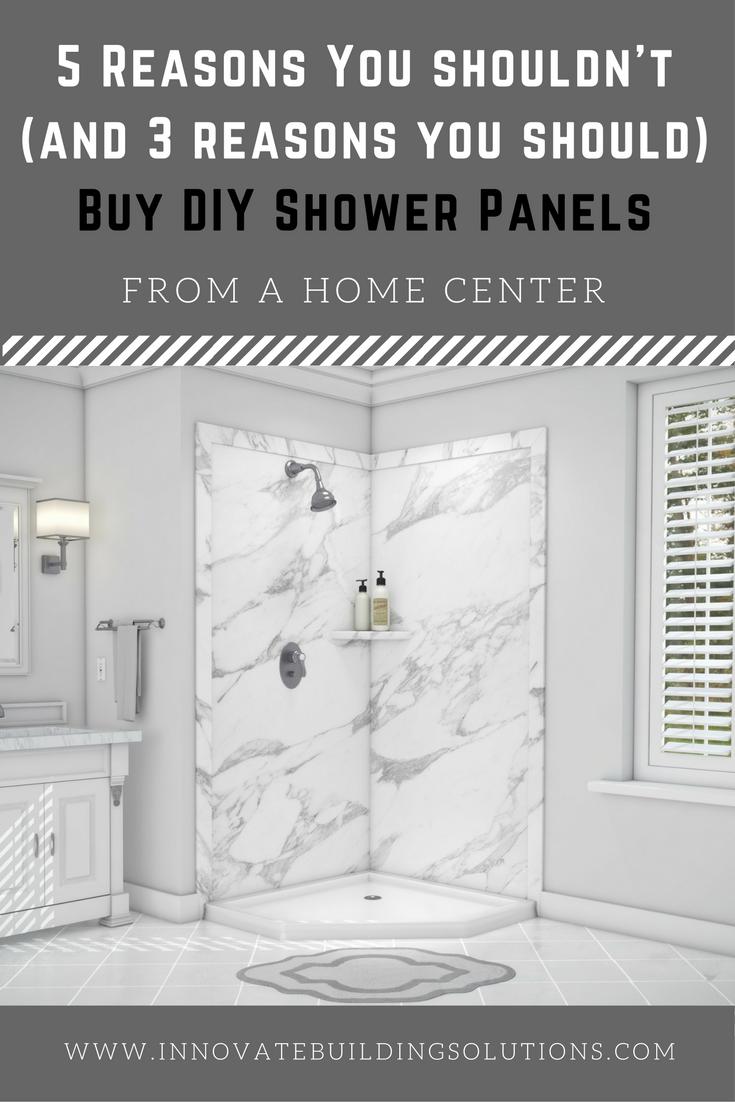 5 Reasons You Shouldn\'t Buy DIY Shower & Tub Panels at a Home Center ...
