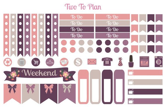 Shopping in Paris Decorative Kit Planner stickers by TwoToPlan