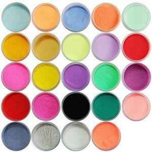 24 color acrylic powder dust nail art decoration