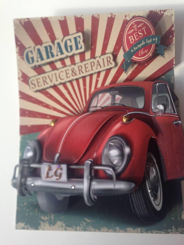 Home Decor Interior Decor Retro Car Garage Sign Red Car Antique Car Antique Cars Garage Decor Retro Cars