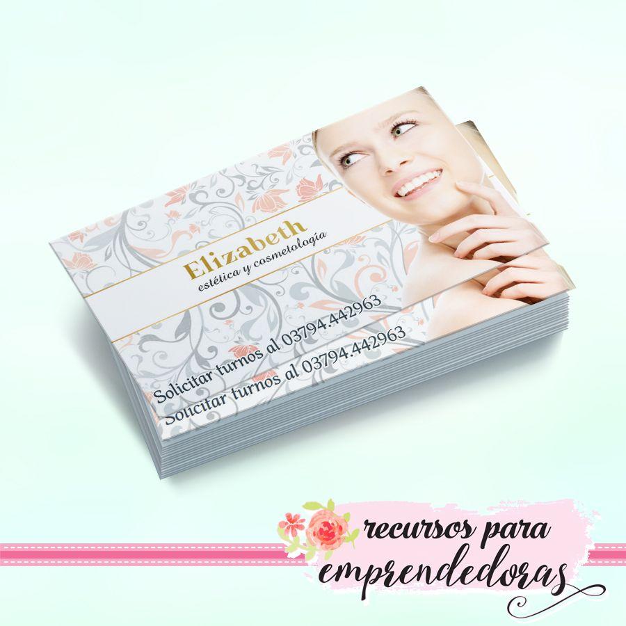 Diseño de tarjeta personal para estética y cosmetóloga / Recursos ...