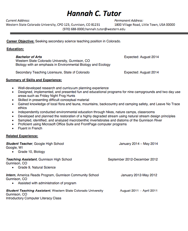 Teachers Resume Template Teacher Resume Template Sample  Httpresumesdesignteacher