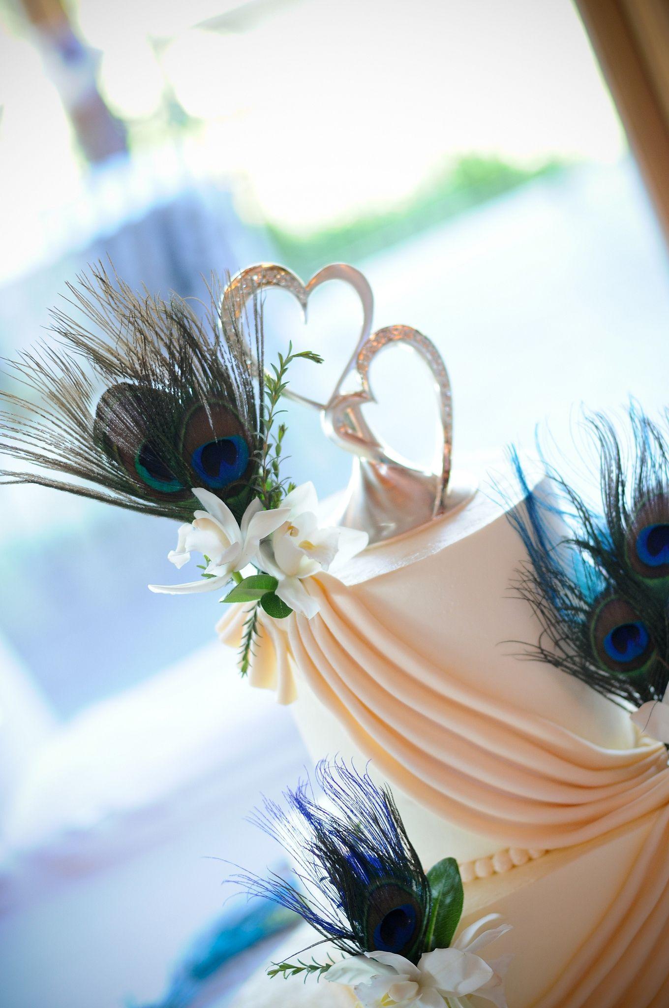 Peacock Wedding Cake | by The Cake Diva Minneapolis