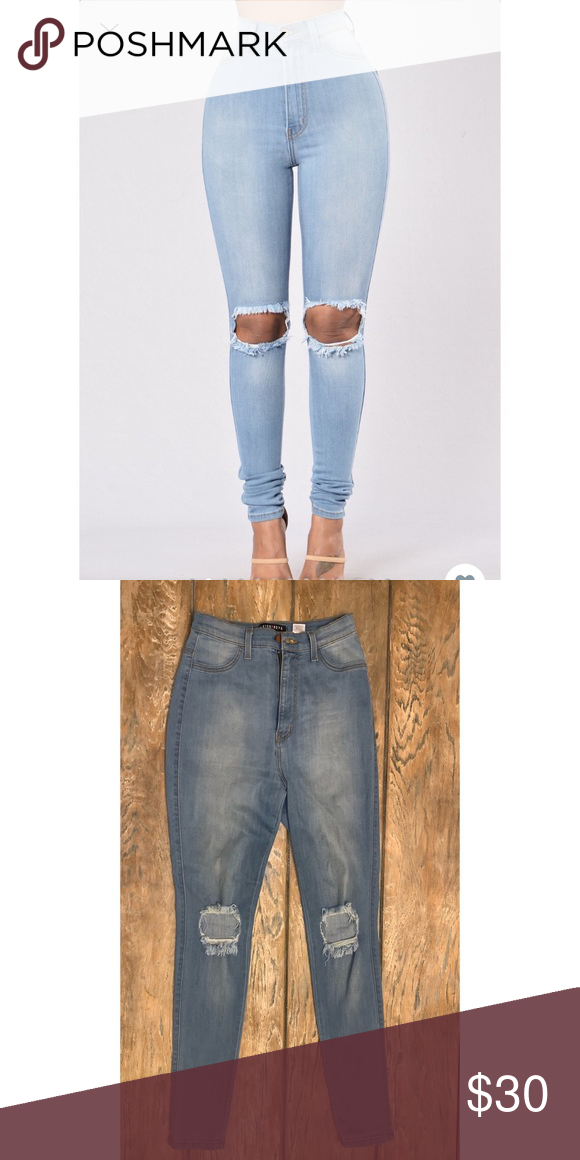 049bae14249dd Fashionnova jeans NWOT! Cut out knees. Stretchy and comfy. Skinny fit and  high