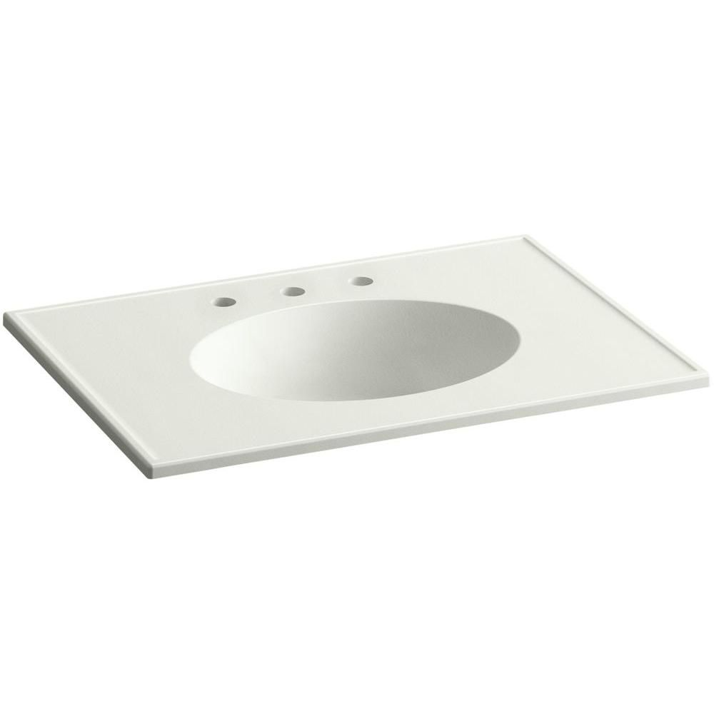 Ceramic Impressions 31 In Single Faucet Hole Vitreous China