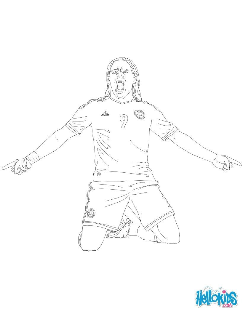 Radamel Falcao Coloring Page With Images Coloring Pages