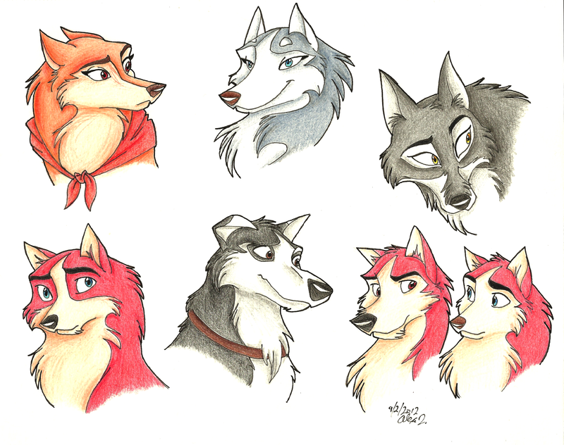 Balto Characters By Stray Sketches On DeviantArt