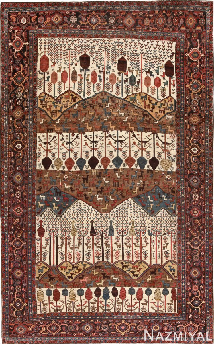 Antique tribal persian bakshaish rug by nazmiyal pinterest