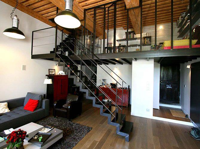 une mezzanine sous mon toit mezzanine pinterest mezzanine hauteur sous plafond et brouillard. Black Bedroom Furniture Sets. Home Design Ideas