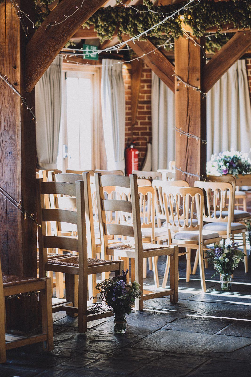 Barn wedding ceremony . 📸 - Mandee Johnson . # ...