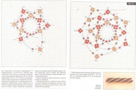 американский жгут из бисера схема плетения: 10 тыс ...
