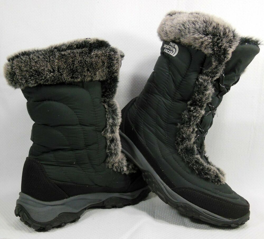 e88517eca eBay Sponsored) The North Face Girls/Filles Faux Fur Black Boots ...