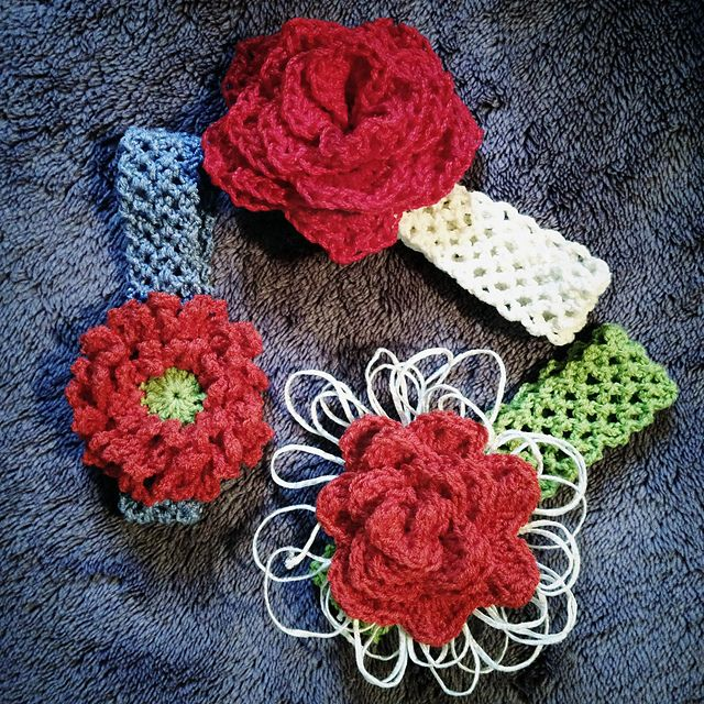 Free Pattern Crochet Headband With Flower Crochet Pinterest