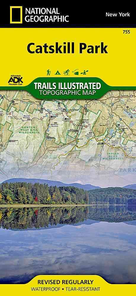 National Geographic Trails Illustrated Map Catskill Park New York - Trails illustrated maps