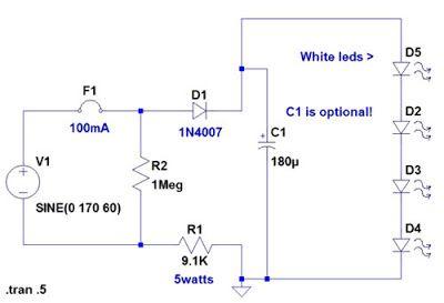 120 volt 4 led light circuit pinterest circuits rh pinterest com 120 Volt Relay Wiring Diagram 120 Volt Relay Wiring Diagram
