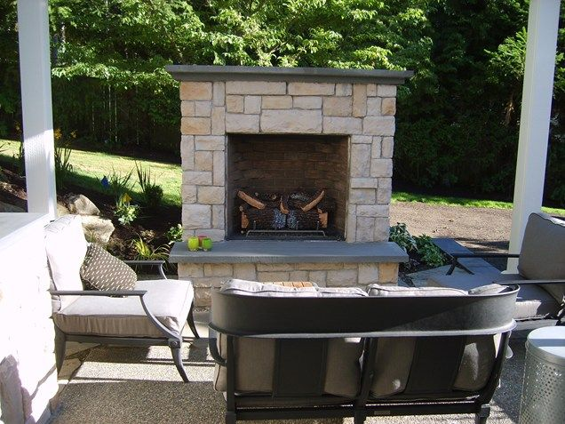 Small Outdoor Fireplace  Outdoor Fireplace  Environmental Construction