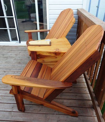 Double Adirondack Chairs Chair Woodworking Plans