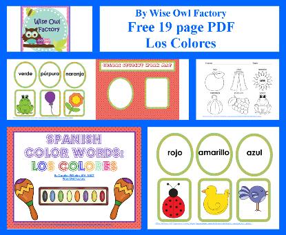 Spanish Color Words Free PDF Los Colores   Español, Clase de español ...