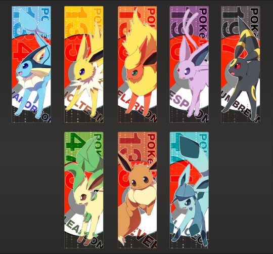 Eeveelution Bookmarks By Kureculari Pokemon Pokemon