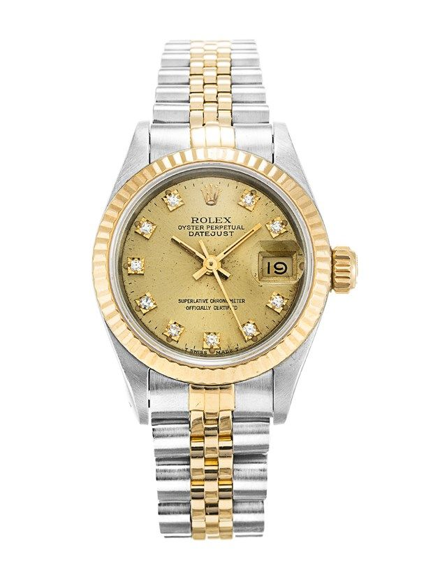 c4a2b9062c756 This is a pre-owned Rolex Datejust Lady 69173. It has a 26mm Steel ...