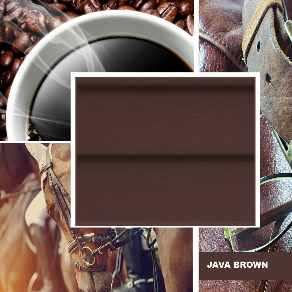 Java Brown Is An Excellent Home Exterior Color Choice Vinyl Siding Vinyl Siding Colors Vinyl Siding Accessories