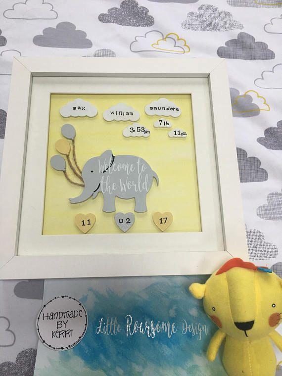 New baby gift, Nursery art decor, Elephant nursery, Welcome to the ...