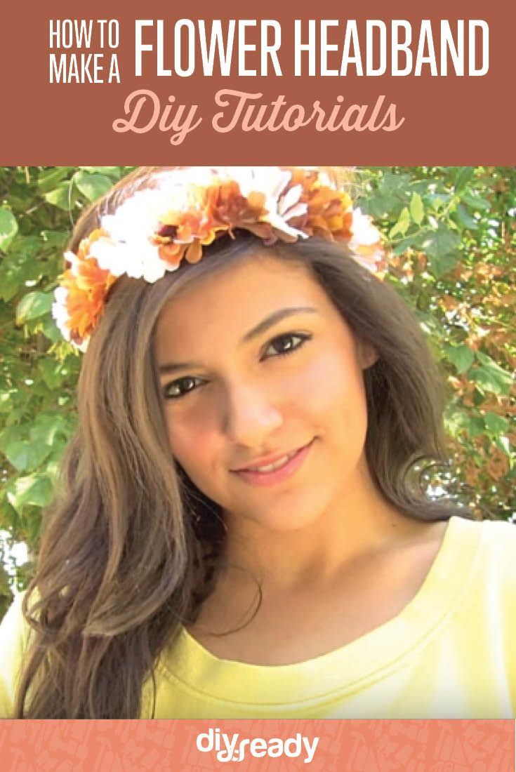 How to Make a DIY Flower Headband   Fabulous Flower Crown Great For Weddings, Parties And More! by DIY Ready at http://diyready.com/how-to-make-a-diy-flower-headband/