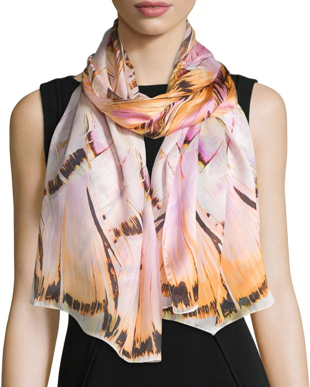 the latest f7d78 37e1c Floral Silk Stole Blush | *Neiman Marcus* | Silk, Floral ...